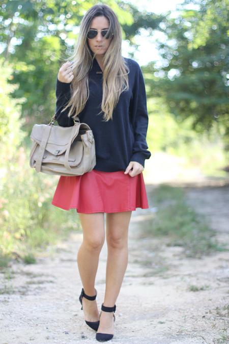 combinar falda roja (2)
